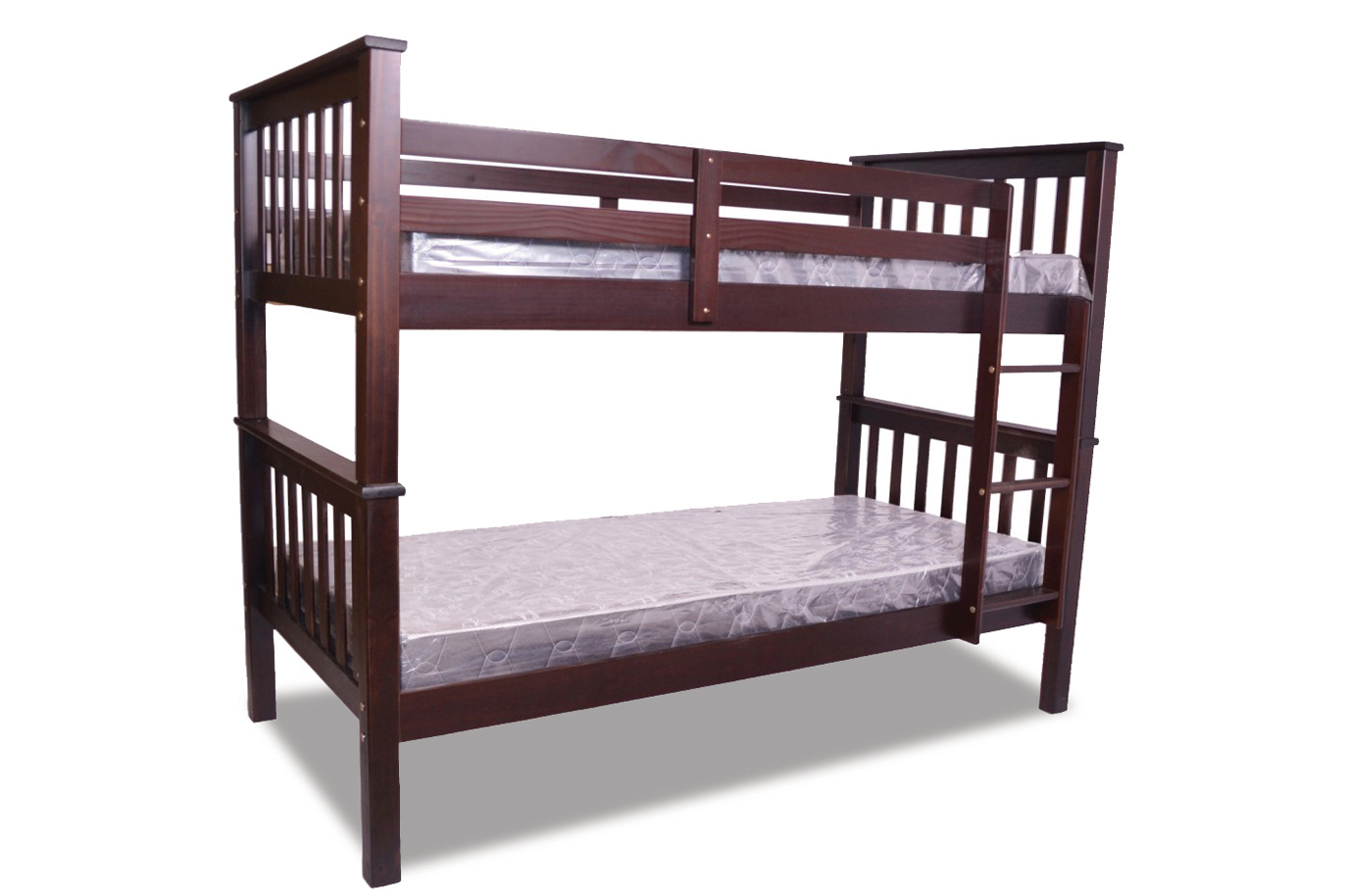 SINGLE OVER SINGLE SOLID WOOD BUNK BED