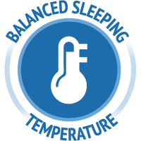 Balanced sleeping temperature icon