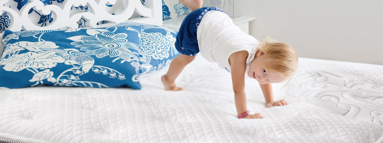 little boy playing on Canada Sleep Paradise mattress