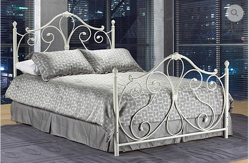 IF158 WHITE METAL HEADBOARD