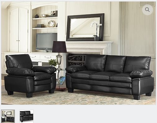 IF8075 Bonded Leather Sofa & Loveseat