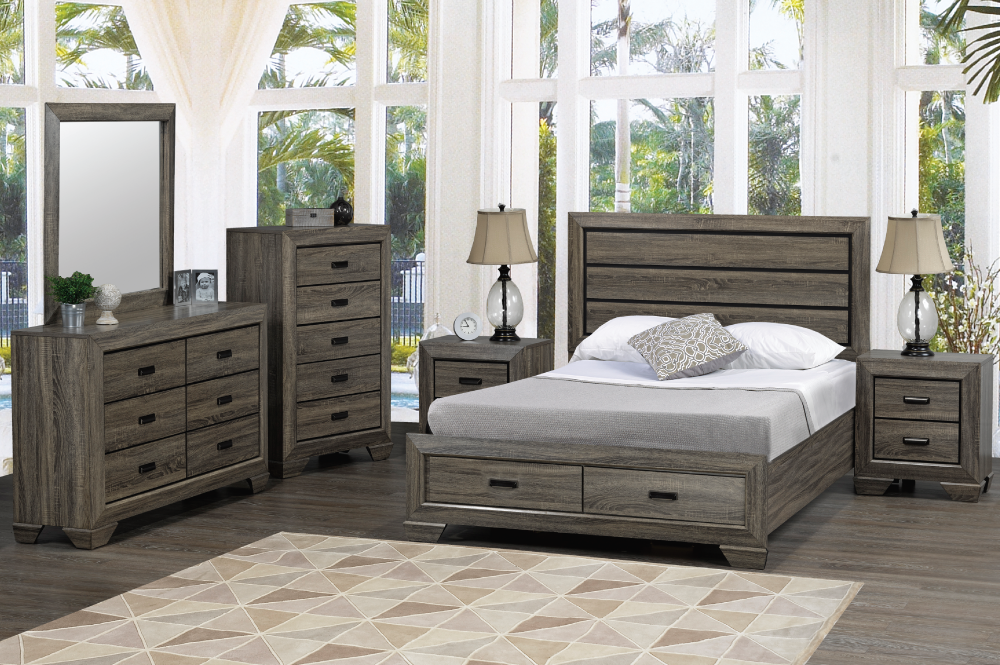 Jenna Queen Bed Drawers