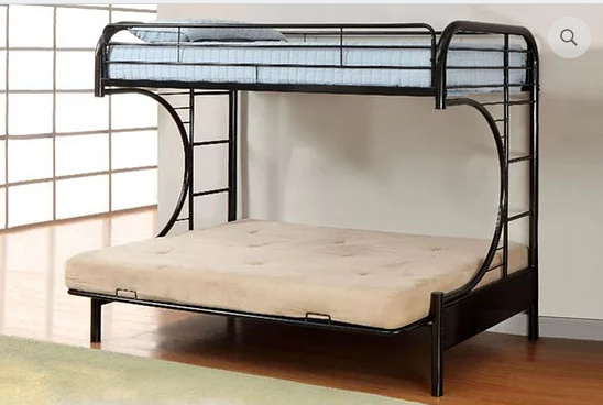 IF 230 Black Futon Bunk Bed