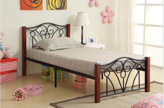 IF 129 Black Metal Platform Bed