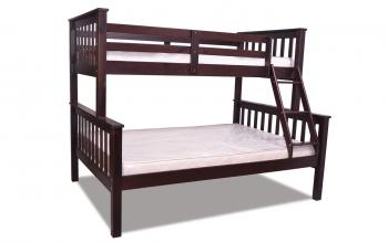 2501E ESPRESSO SINGLE OVER DOUBLE BUNK BED