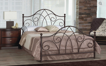 IF103 CARAMEL BROWN METAL HEADBOARD