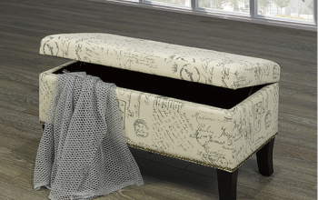 IF6243 FRENCH SCRIPT STORAGE BENCH