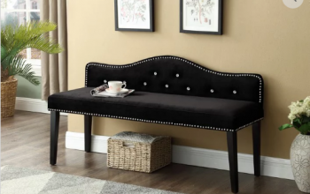 IF 6301 Black Velvet Bench