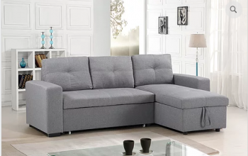 Grey Sofa Bed Sectional with Storage
