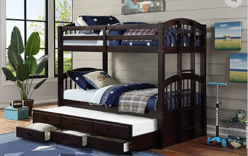 B1840 Twin/Twin Captain Bunk Bed