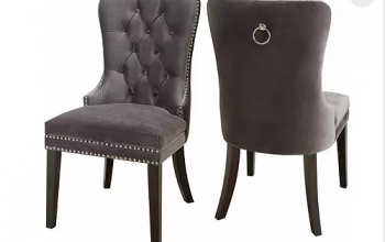 Velvet Dining Chair with Nail Head Details