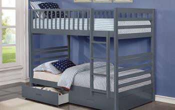 IF 110 Grey Single/Single Bunk Bed