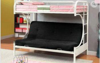 IF 230 White Futon Bunk Bed