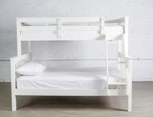 2501W WHITE SINGLE OVER DOUBLE BUNK BED